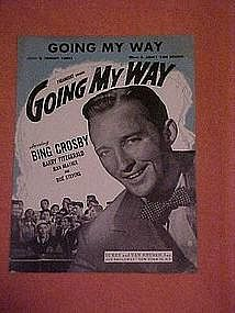 Going my way, sheet music 1944