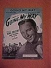 Going my way, sheet music 1944