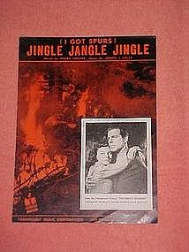 I got spurs, Jingle Jangle Jingle, sheet music 1942