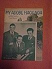 My Adobe Hacienda, Gordon Trio cover photo 1941