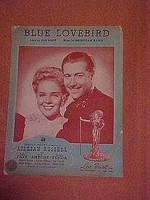 Blue Lovebird, from The Lillian Russel Production 1940