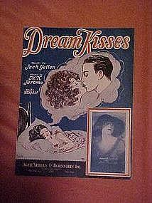 Dream Kisses, sheet music 1929, Barbelle cover art