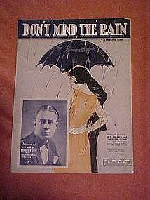 Don't mind the rain, sheet music 1924