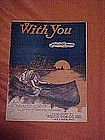 With you,deco art sheet music 1924