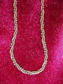 Beautiful Italian sterling triple twist chain 18""