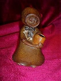 Little girl stoneware vase