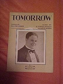 Tomorrow, by Hirsch & Spitalny, sheet music 1927