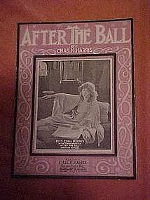 After the Ball sheet music featuring Edna Murphy 1908