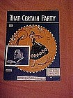 That certain party, sheet music 1925