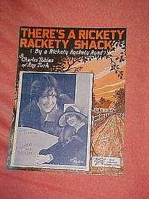There's a rickety rackety shack, sheet music 1927