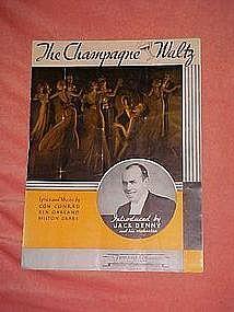 The champagne waltz, sheet music 1934
