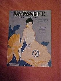 No Wonder that I love you, sheet music 1924