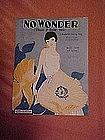 No Wonder that I love you, sheet music 1924