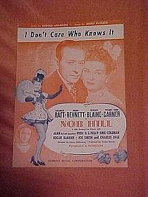 I don't care who knows it, music from Nob Hill 1944