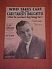 Who takes care of the caretakers daughter,- 1925