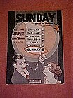 """Sunday"", music by Ned Miller, Bennie Krueger 1926"