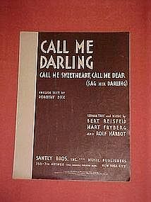 Call Me Darling (Sag mir Darling) English & German 1931