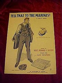 Tell that to the Marines, Marine corps bereau 1918