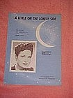 A little on the lonely side, WWII era music 1944