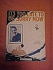 Its too late to be sorry now, featuring Arthur Pugsley