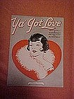 Ya' got love, deco art music 1921