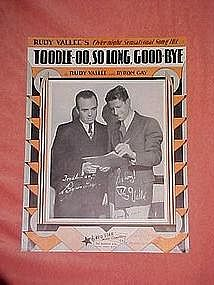Toodle-OO, So Long, Goodbye, by Rudy Vallee 1931