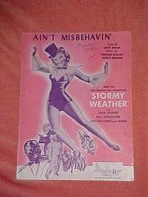 Ain't Misbehavin, Lena Horne and Cab Calloway cover