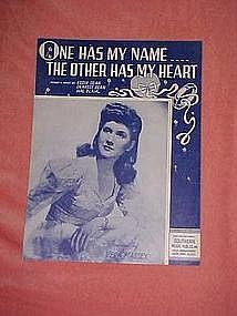One has my name...The other has my heart 1948