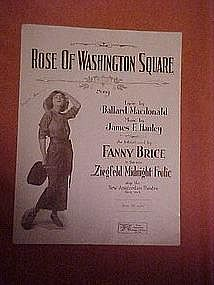 Rose of Washington Square, Fanny Brice 1920