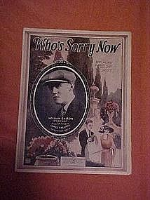 Who's Sorry Now, William Dalton cover photo 1923