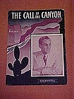 The Call Of The Canyon, by Billy Hill 1940