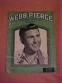 Webb Pierce The wondering boy 1953 song folio #1