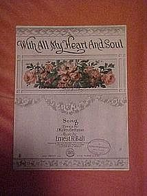 With all my heart and soul, music 1917