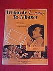 I've got an invitation to a dance,featuring Edna O'Dell