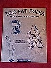 "Too Fat Polka ""Shes too fat for me"" Arthur Godfrey 1957"