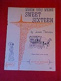 When you were sweet sixteen, by James Thornton 1959
