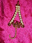 Parasol pin with rhinestones