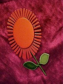Retro red flower pin...Cool