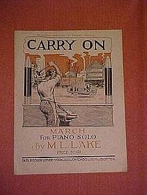 """""""Carry On"""", music dedicated to General Pershing 1939"""