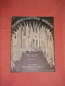 Exerpts from the National Anthems of 21 American Rep...