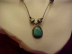 Silver and turquoise necklace, vintage
