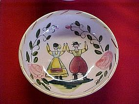Hand painted bowl, farmer and his wife
