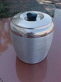 Kromex aluminum /copper tone Cookies cannister