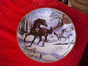Royal Doulton Winter Morning Gallop, horse plate