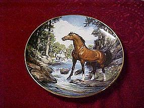 Royal Doulton Cool Creek Crossing, horse plate