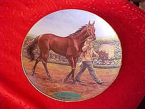 Danbury mint Buckpasser, horse plate