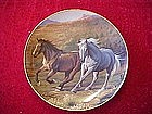Franklin Mint Running Free, collectors horse plate