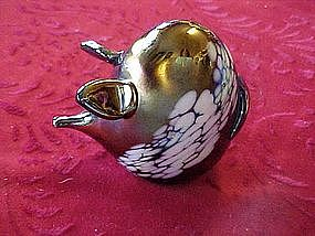 Carnival art glass pig paperweight