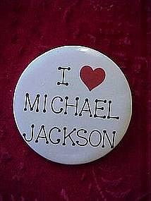 Original I Love Michael Jackson pinback button