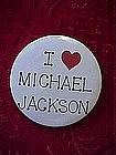 Original I Love Michael Jackson pinback button